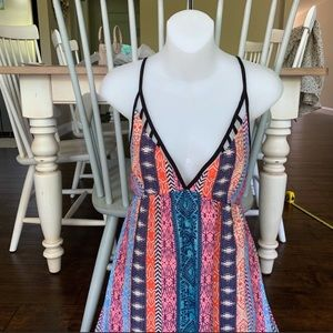 Colorful Lush Maxi Dress size Small